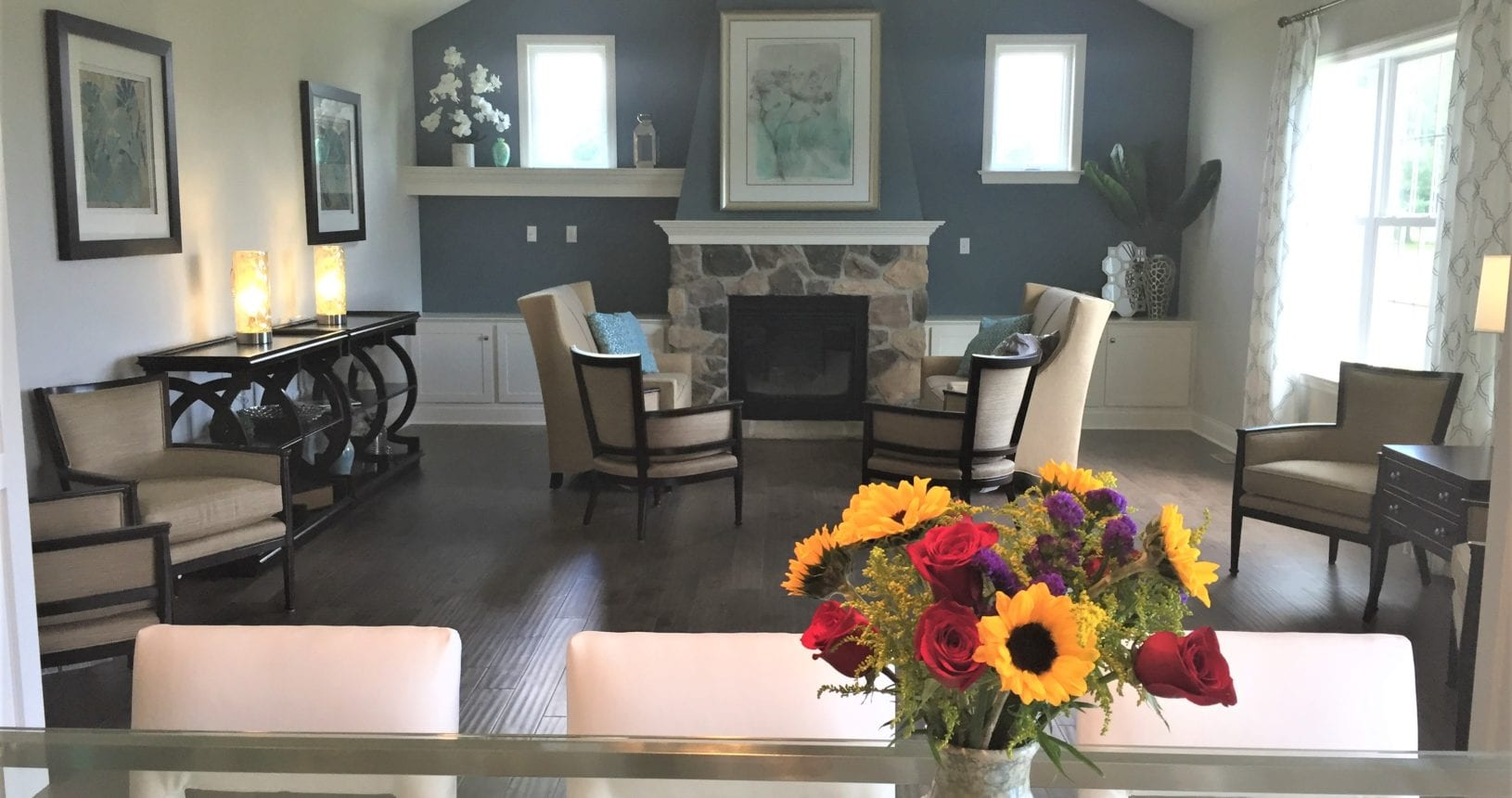 The great room at the Club House at The Farmstead