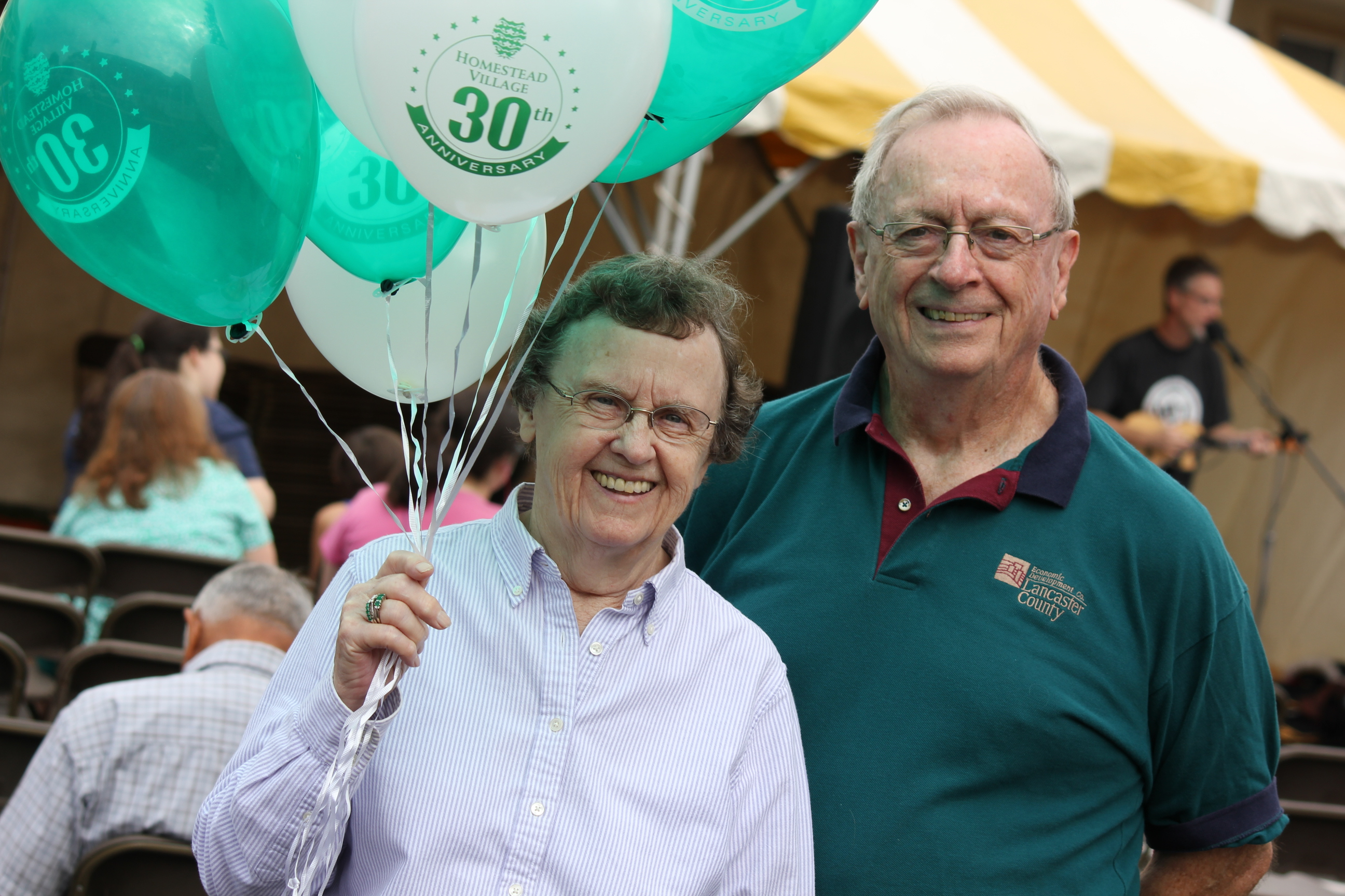 Two residents celebrate the 30th anniversary of Homestead Village