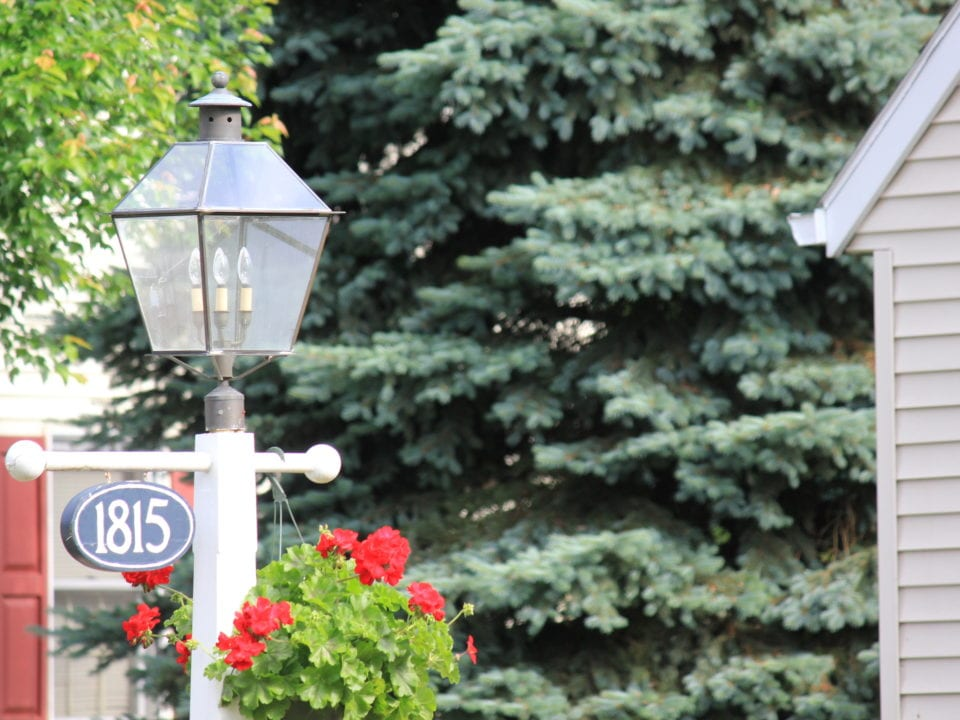 A Lamp Post at the Cottages at Homestead Village