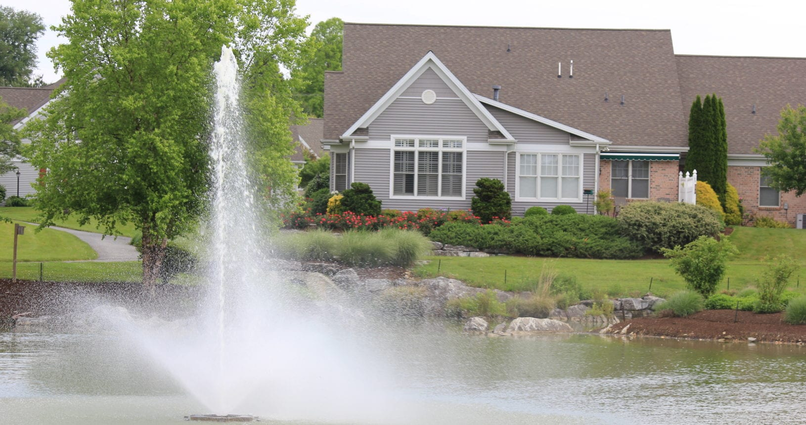 A Beautiful Fountain graces the Mews at Homestead Village
