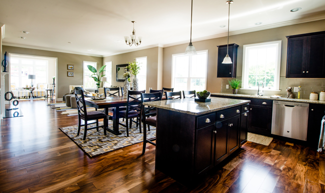 The Open Floor Plan of The Boxwood at Homestead Village