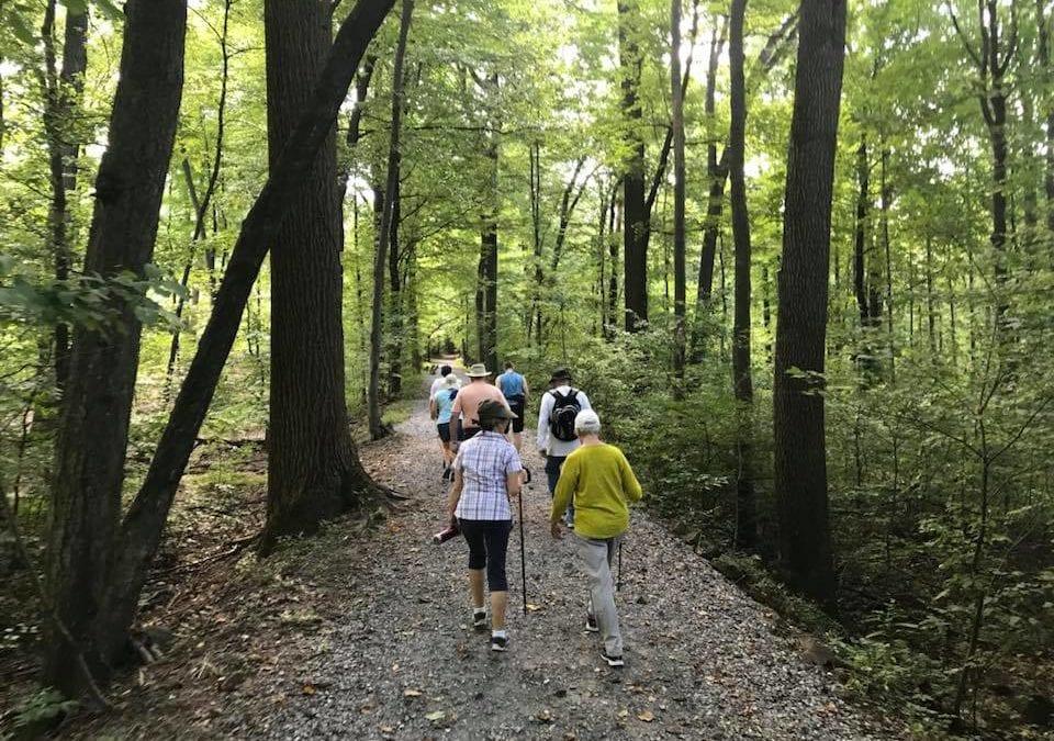 Residents enjoying a Hike at Mount Gretna, PA