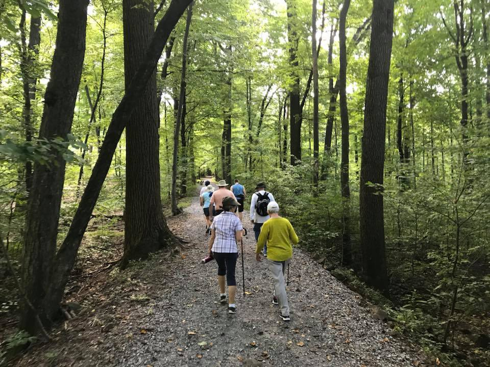 Residents enjoying a Hike at Mount Gretna, PA