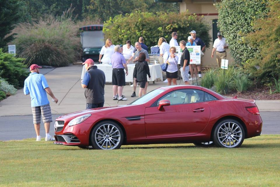 Mercedes Hole-in-One prize at Homestead Village Golf Tournament