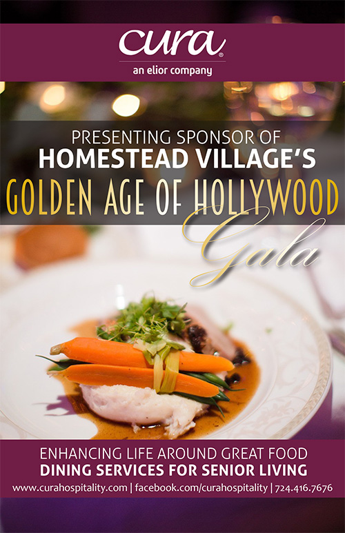 ad for Homestead Village's Golden Age of Hollywood Gala