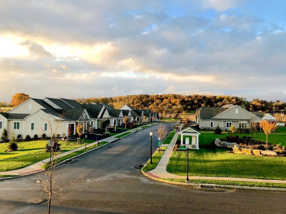 sunset at retirement community