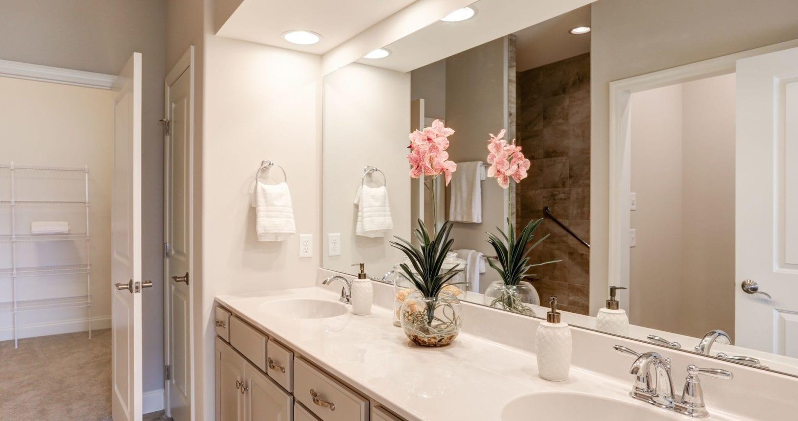 Master bathroom at The Farmstead at Homestead Village