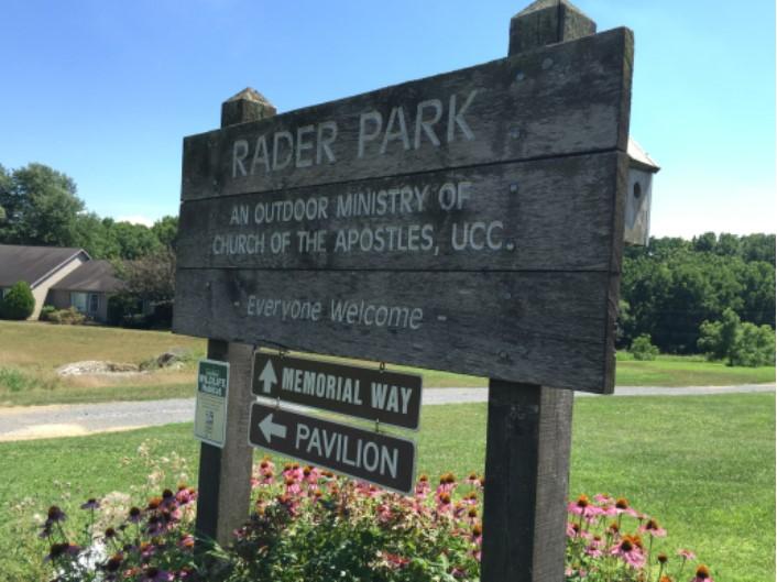 Rader Park sign