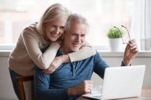 seniors watching a webinar