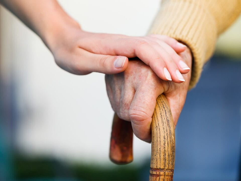 hands on cane