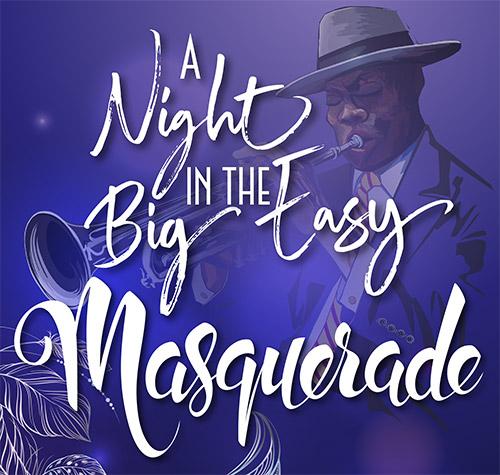 a night at the big easy masquerade banner